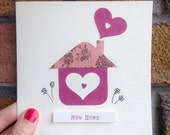 New Home Congratulations Handmade Greeting Card Irish Home is Where the Heart Is Design