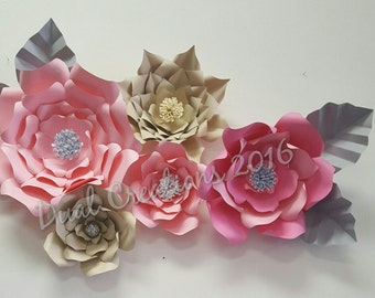 Giant Paper Flowers, wedding, bridal showers, candy bar, backdrop,home decor,nursery room