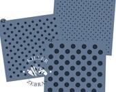 "Polka Dot 5.5"" x 5.5"" Stencil"
