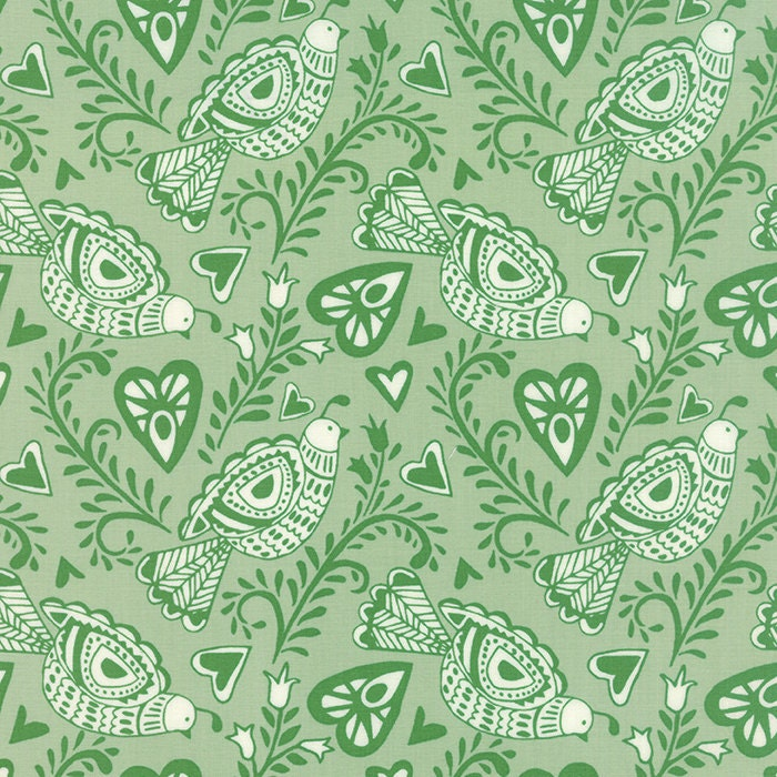 Moda north woods felicity in pine 27241 17 kate spain for Minecraft fabric by the yard