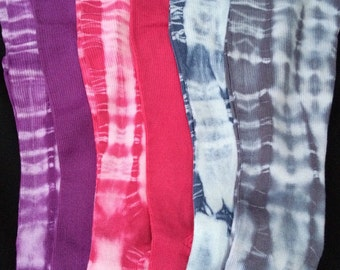 Comfy Cotton Compression Socks 20-30 mmHg  Comfort!! Color!! Healthy Legs!! Hand dyed shibori tie dye!! Travel, work or play!