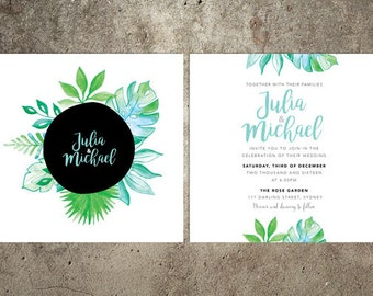 Leaves Wedding Invitation Suite – Printable
