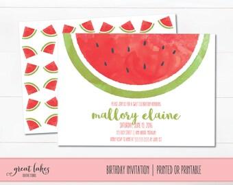 watermelon birthday invitation – etsy, Birthday invitations