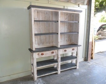 Hutch custom made from reclaimed wood in the USA