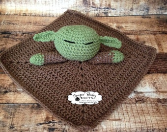 Master Yoda Lovey,  Master Yoda Inspired Lovey, Lovey, Star Wars Toy, Jedi Inspired, Yoda Blanket, Toy, Star Wars, Master Yoda the Jedi