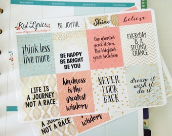 Inspirational Planner Stickers, ECLP, Erin Condren Life Planner
