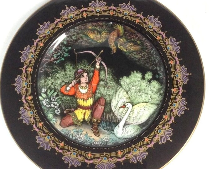 Villeroy and Boch Plate, Heinrich Porcelain, Magical Fairy Tales, Tsar Saltan, Vintage Limited Edition Collector Plate