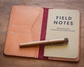 The Park Sloper No Pen, Field Notes wallet - red/tan