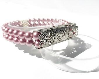 Classic Stretch Silver-tone Fitbit Flex Bracelet