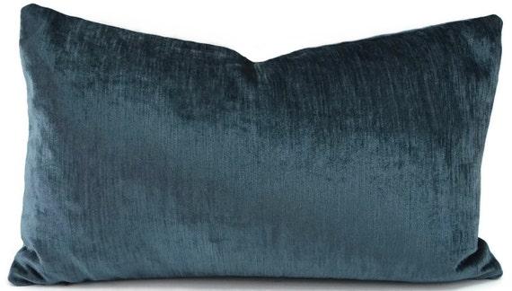 SALE Throw Pillow Cover Marine Blue Velvet Pillow Cover