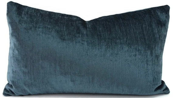 Marine Blue Throw Pillows : SALE Throw Pillow Cover Marine Blue Velvet Pillow Cover