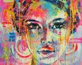 Ellen -  Giclée art print on Canvas