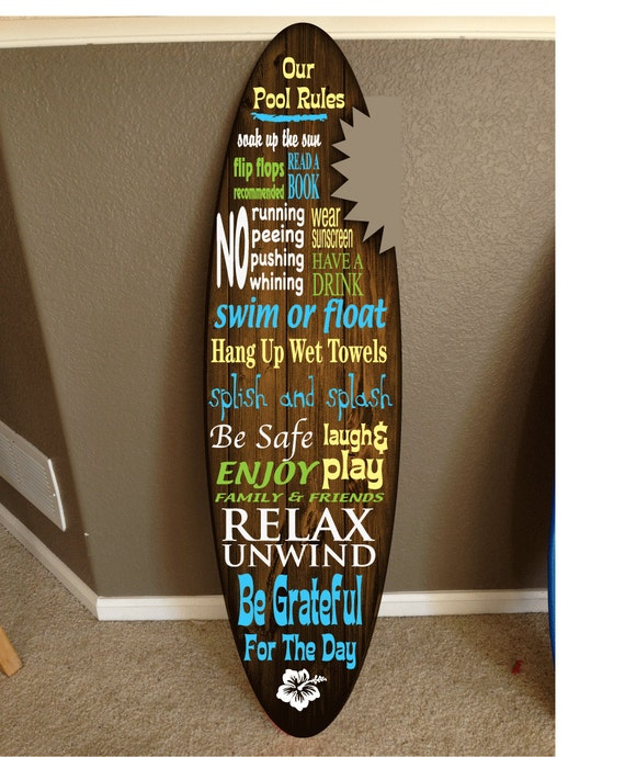 Surf board surfboard decor hawaiian beach surfing beach decor for Surf decoration