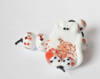 Cat Pendant Jewellery Lampwork Cat Animal Bead Glass Lampwork Beads Cat bead flamework