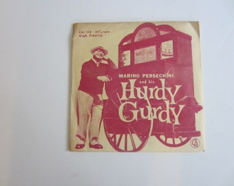 Vintage 1962 Marino Persechini and his Hurdy Gurdy from Boston 33 1/3 Record