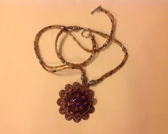 Sunset Pendant Necklace