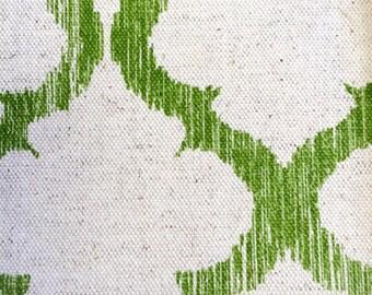Palm Green Geometric Lattice Designer Pillow Cover- Linen Pillow- Accent Pillow- Throw Pillow- Trellis Pillow
