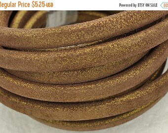 """up to 50% Off Metallic Bronze Licorice Leather - 10x 6mm Thick Leather - (8""""/20cm)"""
