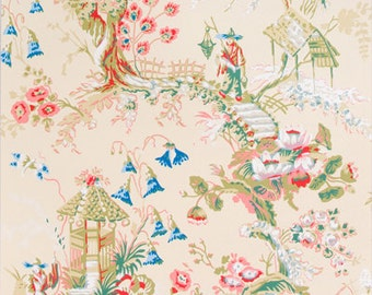 Brunschwig and Fils 'Chinese Landscape' Printed Wallpaper