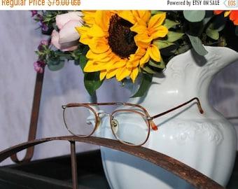 SEXY SUMMER SALE Vintage Guess Gold metal Tortoise Shell with Chestnut orange Brown rimmed prescription Frames Guess eye wear designer