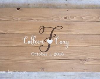 Wedding Guest Book Wood Sign, Wedding Decoration, Guest Book Alternative