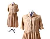 Plus Size Dress, 1960s Dress, 60s Dress,Vintage Dress, Womens Clothing, Orange Dress, Brown Dress, XL Dress, Large Dress, Vintage Clothing