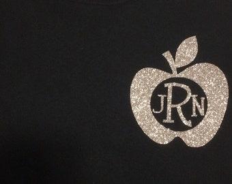 Short Sleeved Teacher Monogram T-Shirt