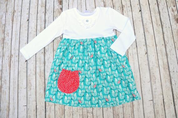 Winter Fox Pocket Dress 2/3