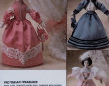 """Vintage Victorian Treasures 16"""" Doll and Clothing Three Dolls  Pattern #7114   ** Epsteam"""