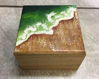 Hand painted  jewelry box key west beach