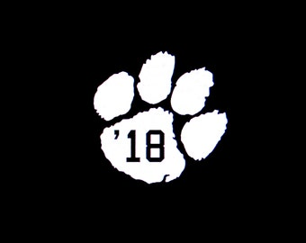 Image result for class of 2018 with a paw print clip art
