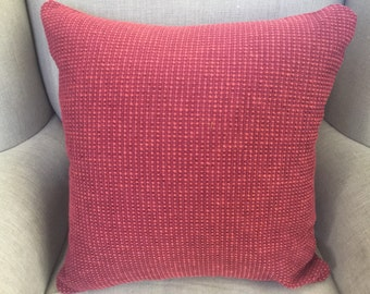 Burnt Red Square Cushion/Pillow Cover in Warwick Upholstery Fabric.
