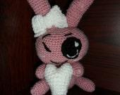 Baby Crochet Bashful Bunny, approx. 20cms, handmade, individual