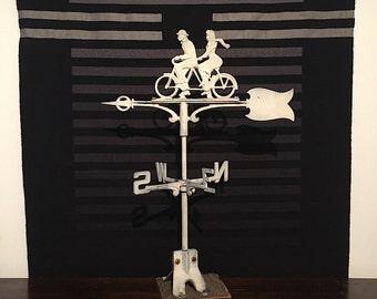 Weathervane - Bicycle - Tandem Bicycle - Unique Wedding Gift - Bicycle Art - Bicycle Decor - Gift for Cyclist - Old Weathervane - Metal Art