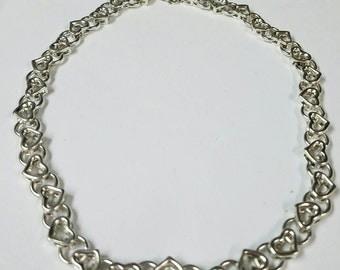 Sterling Silver 925 open heart neckless.