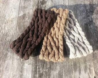 Hand Knitted Cable Headband Choose Your Colour Chunky Headband Ear Warmer