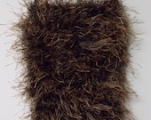 FAUX FUR BAG  Crossbody Cell Bag . Phone Carrier . Browns & Blacks . Very strong strap . Great Gift . Neutral Colors . Bag is Lined . Unique