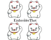 UNCUT Japanese Kitty felt applique embellishment felties Hair Bow Centers(4)