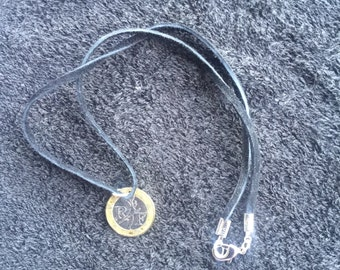 1989 10 Franc French Coin Necklace, 18 inch, Coin Jewelry, Bi Metal Coin, Free USA Shipping