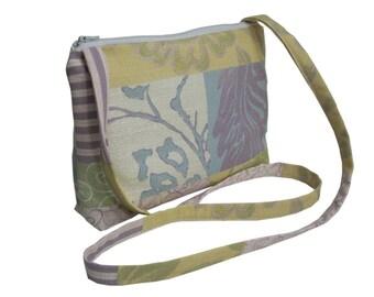 Gift for Her/ Small Cross Body Bag/ Messenger Bag/ Zippered Bag/ Multicolored.