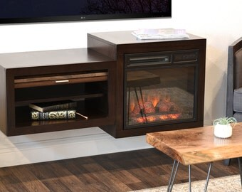 Wall Mounted Hanging Tv Stand Eco Geo Espresso