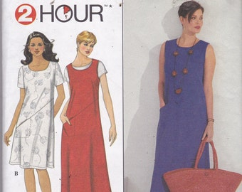 Simplicity 8765 Vintage Pattern Womens Pull Over Dress in Variations Size X Sm, Sm, Med UNCUT