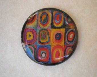 Kandinsky art brooch - Kandinsky art - Squares with Concentric Circles - Kandinsky brooch - Art brooch