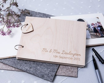 Personalised Guest Book - Wooden Guest Book - Rustic Guest Book - Anniversary Gift - Wedding Guest Book - Birthday Book - Memory Book