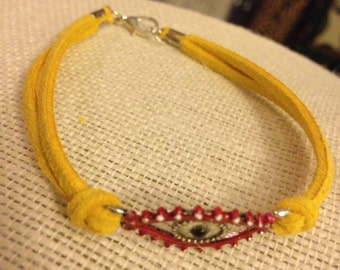 Yellow&Red Evil Eye Bracelet