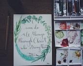 CUSTOM Calligraphy / Watercolor Prints