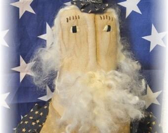 Primitive Folk Art Patriotic Tax Man Doll