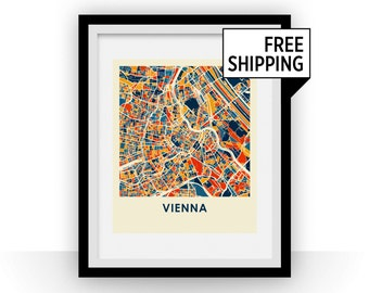 Vienna Map Print - Full Color Map Poster