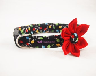 Christmas Dog Collar Flower Set Twinkle