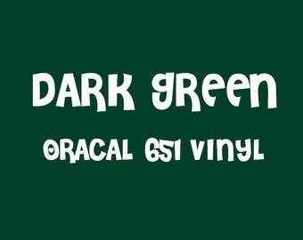 Oracal Dark Green Adhesive Vinyl - 651 High Performance Vinyl